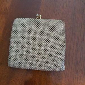 Original vintage Glomesh purse, beige, pre loved